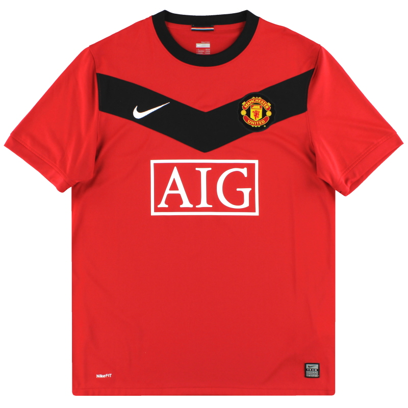 2009-10 Manchester United Nike Home Shirt L - 355091-623