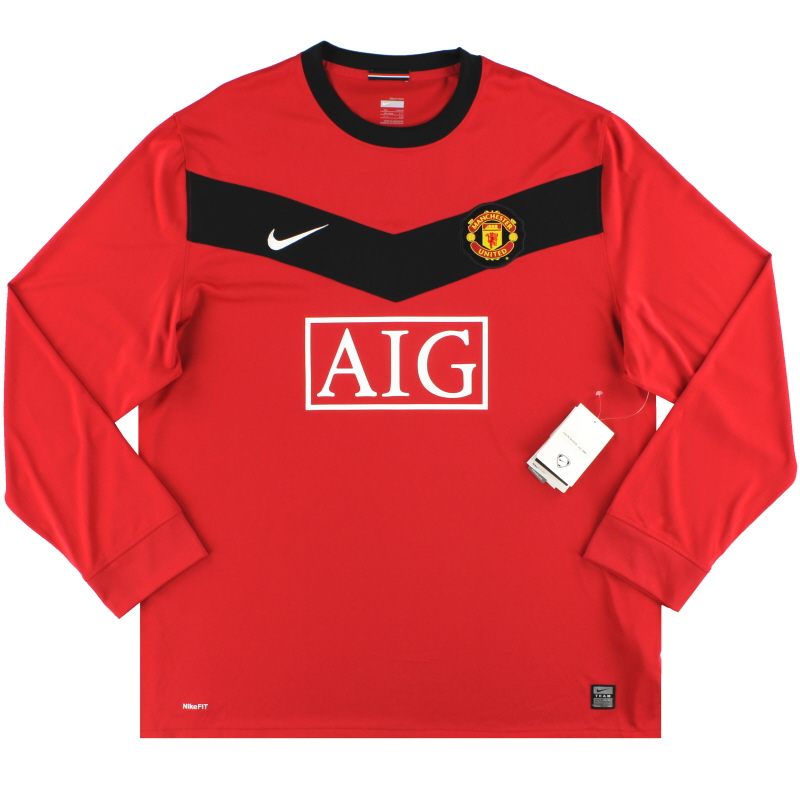 2009-10 Manchester United Nike Home Shirt L/S *w/tags* XXL - 355092-623