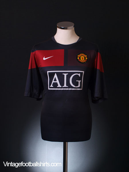 2009-10 Manchester United Nike Training Shirt L