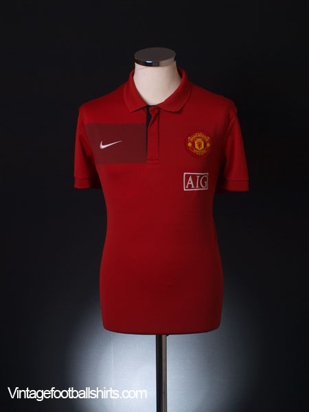 2009-10 Manchester United Polo Shirt L