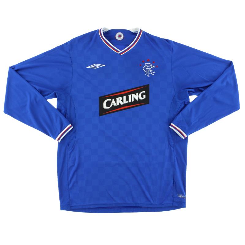 2009-10 Rangers Home Shirt L/S L