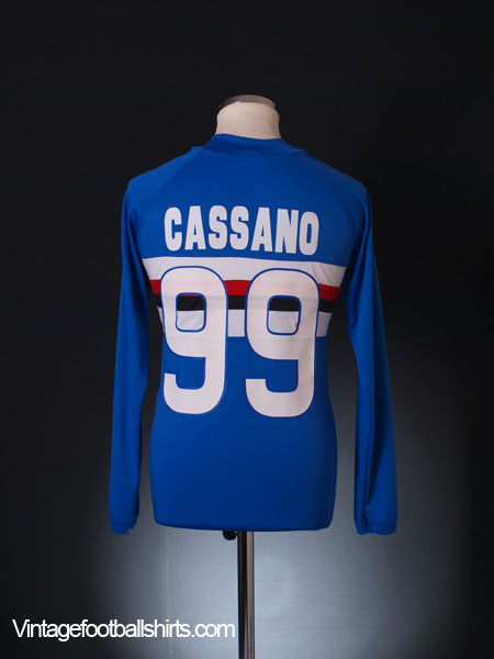 2009-10 Sampdoria Home Shirt Cassano #99 L/S M