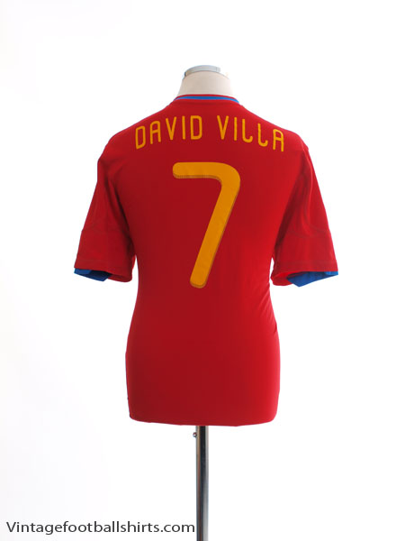 2009-10 Spain Home Shirt David Villa #7 L