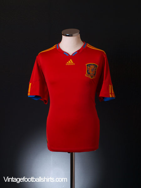 2009-10 Spain Home Shirt XL.Boys