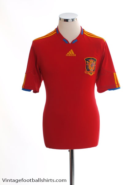 2009-10 Spain Home Shirt *Mint* M