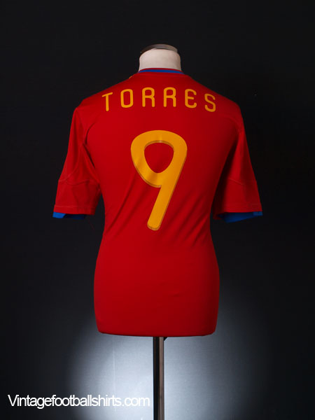2009-10 Spain Home Shirt Torres #9 XL