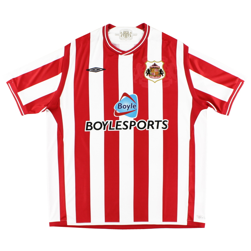 2009-10 Sunderland Umbro Home Shirt L