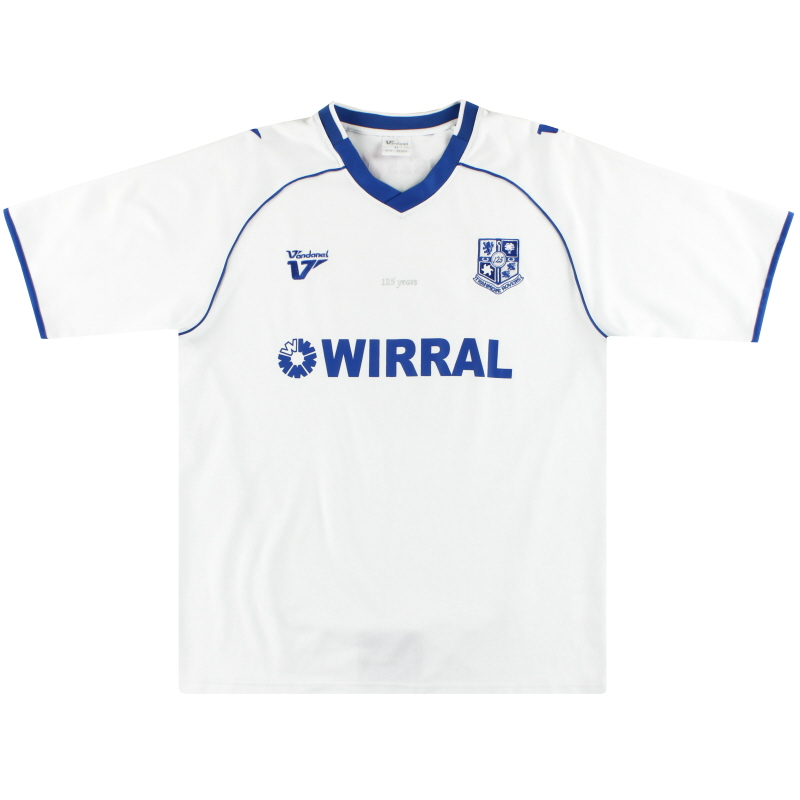 2009-10 Tranmere Rovers '125 Years' Home Shirt #6 XL