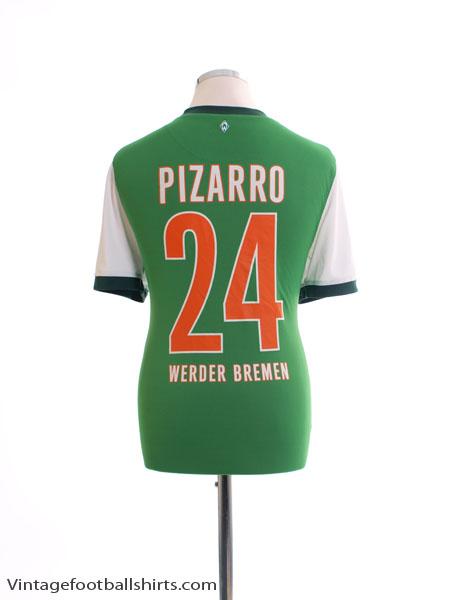 2009-10 Werder Bremen Home Shirt Pizarro #24 XL - 355763-377