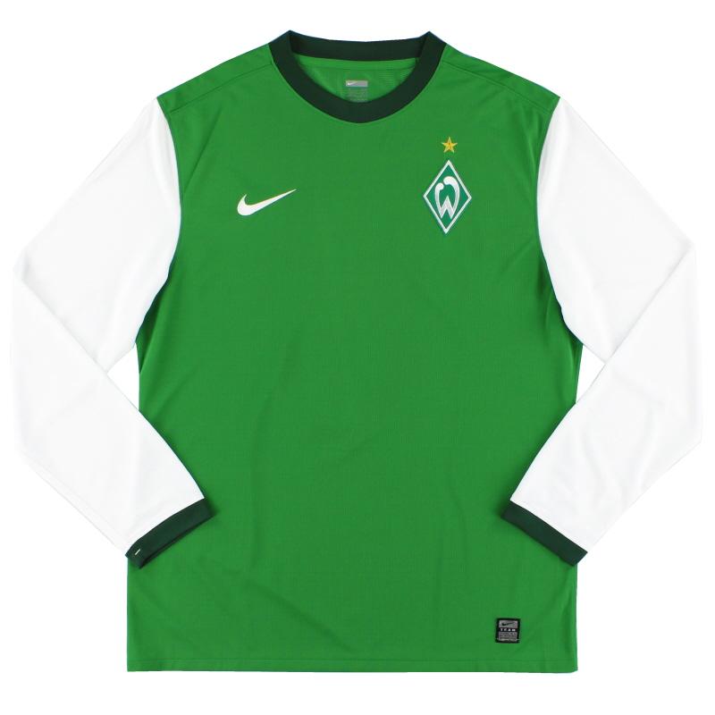 2009-10 Werder Bremen Player Issue Home Shirt L/S XL