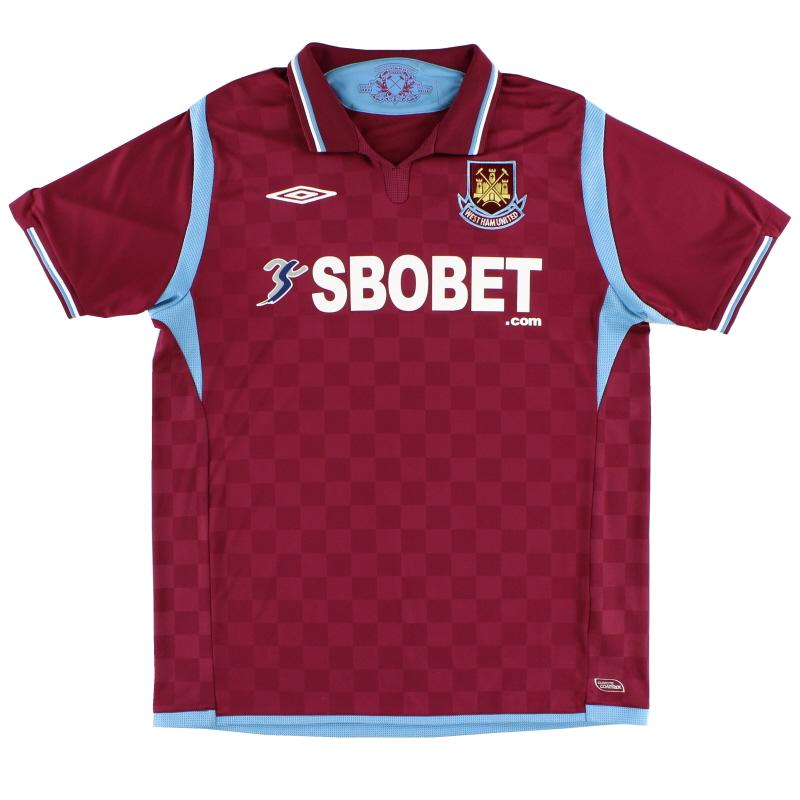 2009-10 West Ham Umbro Home Shirt *Mint* M
