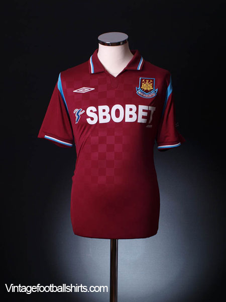 2009-10 West Ham Home Shirt L