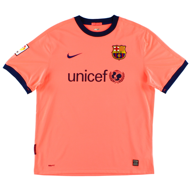 2009-11 Barcelona Away Shirt L - 355020-870