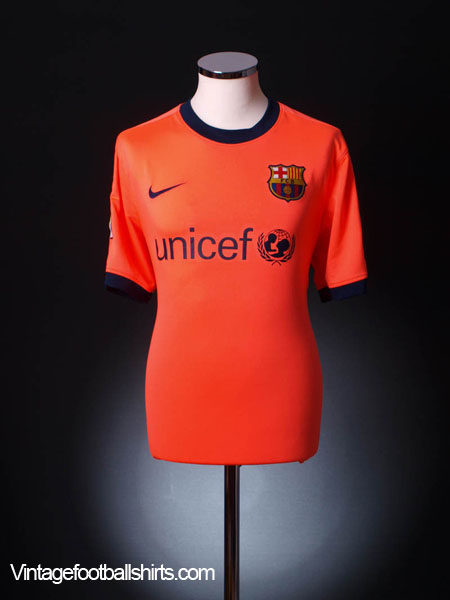 2009-11 Barcelona Away Shirt L