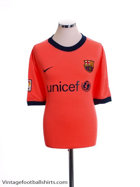 2009-11 Barcelona Away Shirt *Mint* S - 355020-870