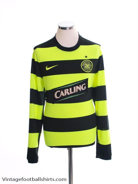 2009-11 Celtic Away Shirt L/S M