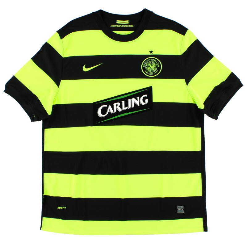 2009-11 Celtic Away Shirt *Mint* XL - 347315-010