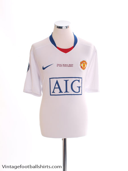 2009 Manchester United 'Final Roma' Away Shirt *BNWT* XL