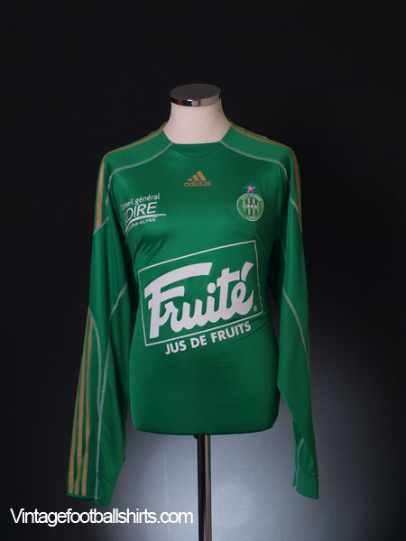 2009-10 Saint-Etienne Player Issue Home Shirt L/S XL