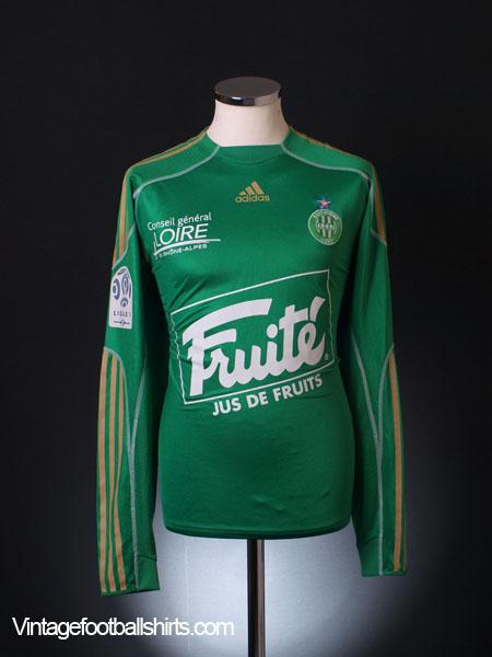 2009-10 Saint-Etienne Player Issue Home Shirt L/S L