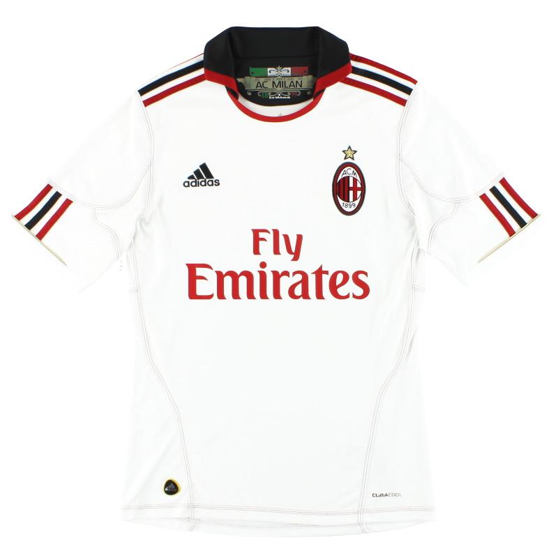 2010-11 AC Milan adidas Away Shirt S - P96277