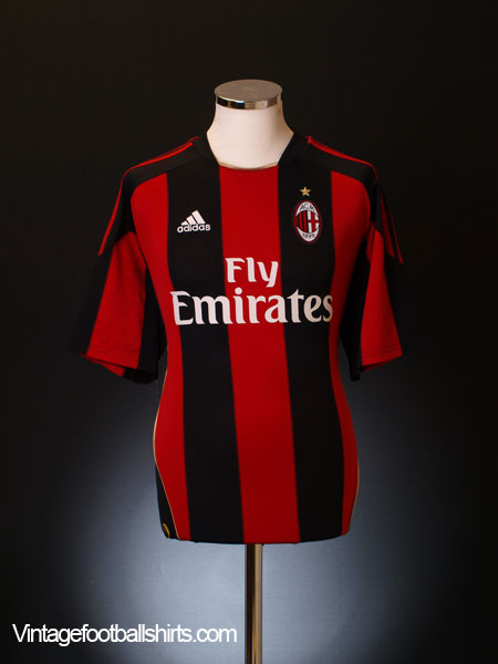 2010-11 AC Milan Home Shirt M
