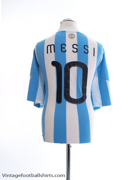 2010-11 Argentina Home Shirt Messi #10 XXL