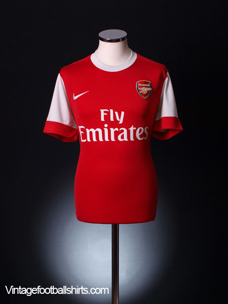 2010-11 Arsenal Home Shirt L