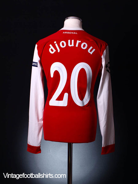 2010-11 Arsenal Match Issue Champions League Home Shirt L/S Djourou #20 L