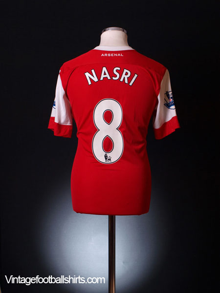 2010-11 Arsenal Player Issue PL Home Shirt Nasri #8 L