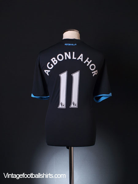 2010-11 Aston Villa Away Shirt Agbonlahor #11 XL