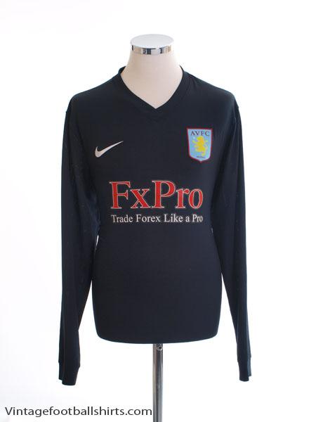 2010-11 Aston Villa Away Shirt L/S L