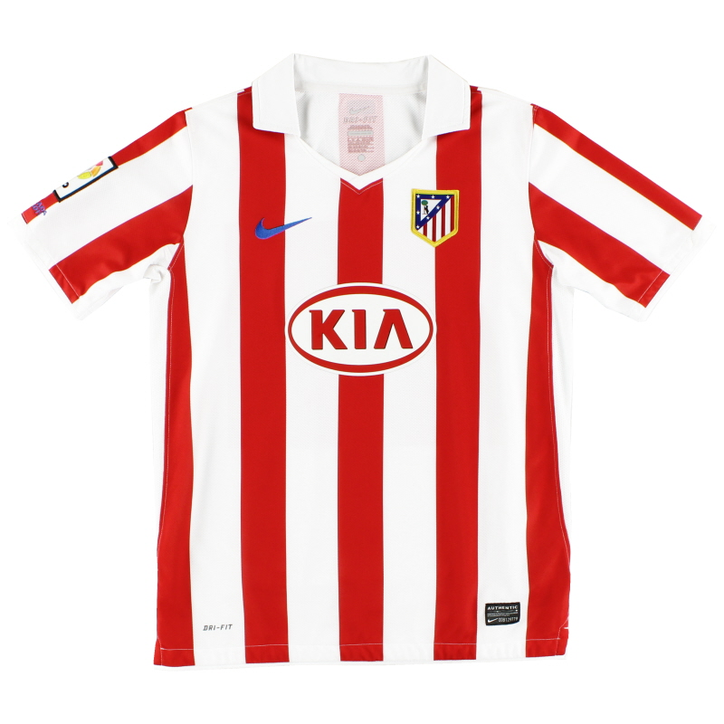 2010-11 Atletico Madrid Home Shirt L.Boys