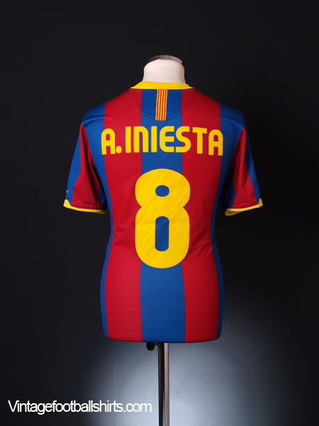 2010-11 Barcelona Home Shirt A.Iniesta #8 M