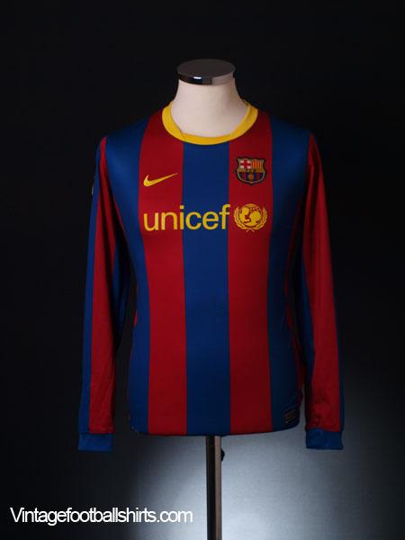 2010-11 Barcelona Home Shirt L/S XL.Boys