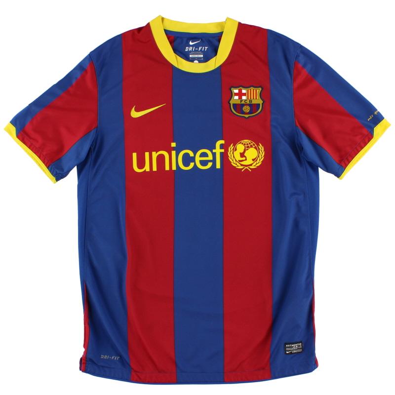 2010-11 Barcelona Nike Home Shirt L - 382354-486
