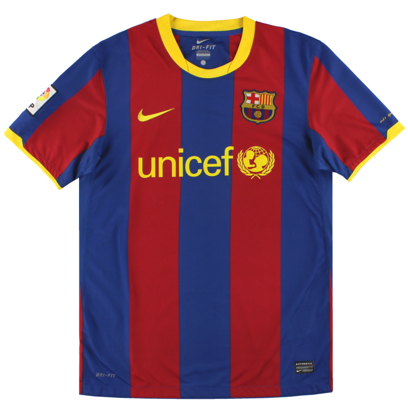 2010-11 Barcelona Nike Home Shirt S - 382354-486