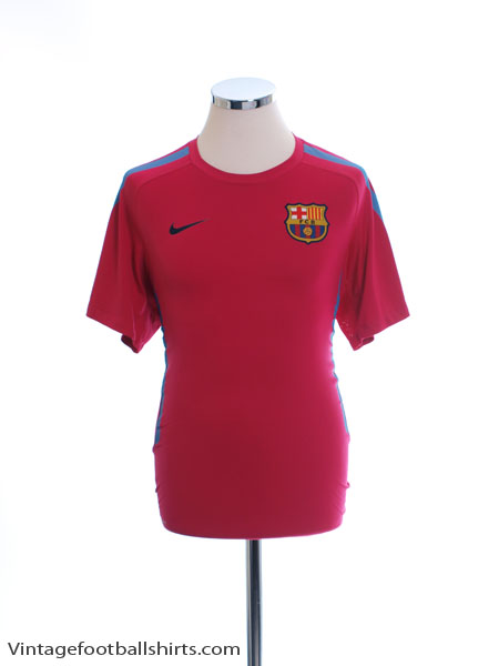 2010-11 Barcelona Nike Training Shirt *Mint* S - 382363-669