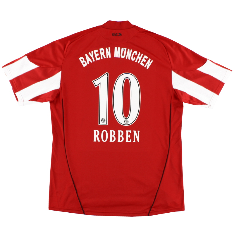 2010-11 Bayern Munich Home Shirt Robben #10 XL