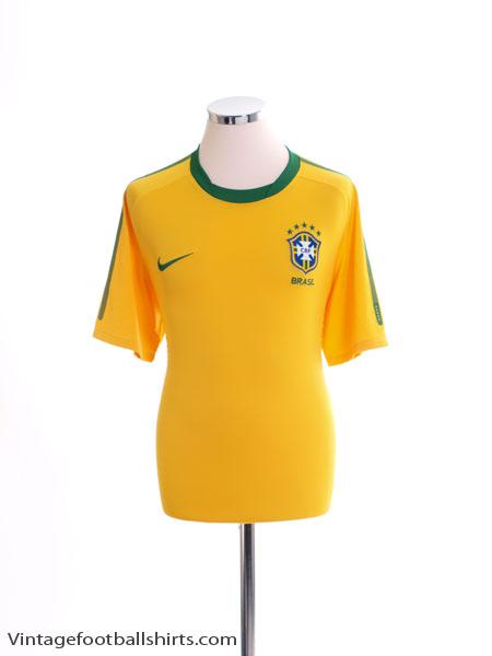 2010-11 Brazil Home Shirt M