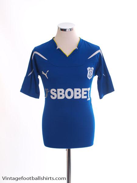 2010-11 Cardiff City Home Shirt S