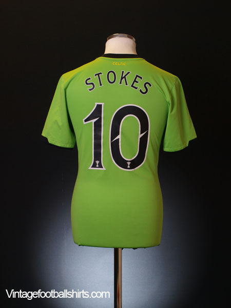2010-11 Celtic Away Shirt Stokes #10 L