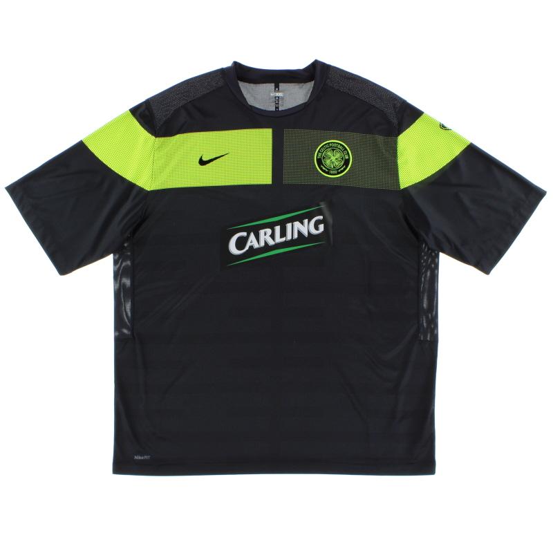 2010-11 Celtic Pre-Match Training Shirt XXL