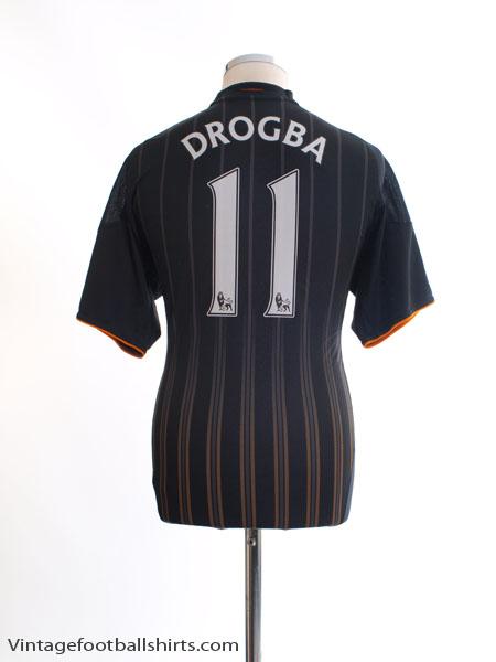 2010-11 Chelsea Away Shirt Drogba #11 *Mint* M - P00205