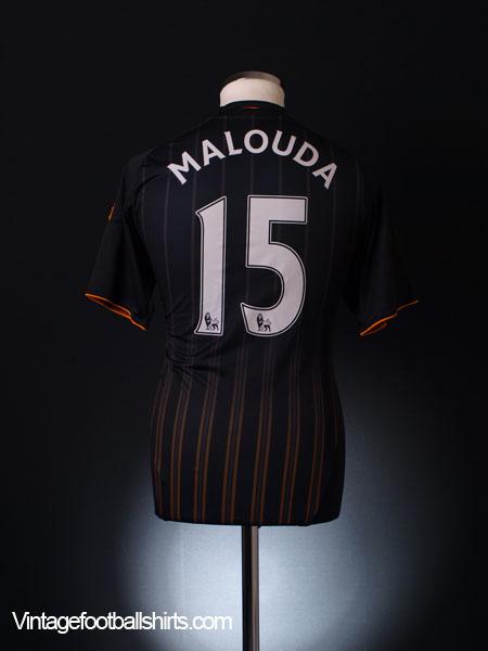 2010-11 Chelsea Away Shirt Malouda #15 S