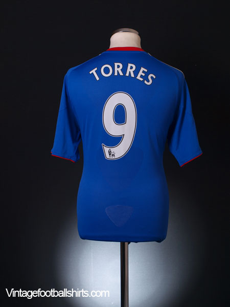 2010-11 Chelsea Home Shirt Torres #9 M