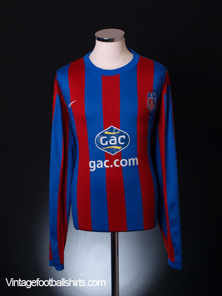 2010-11 Crystal Palace Home Shirt L/S M
