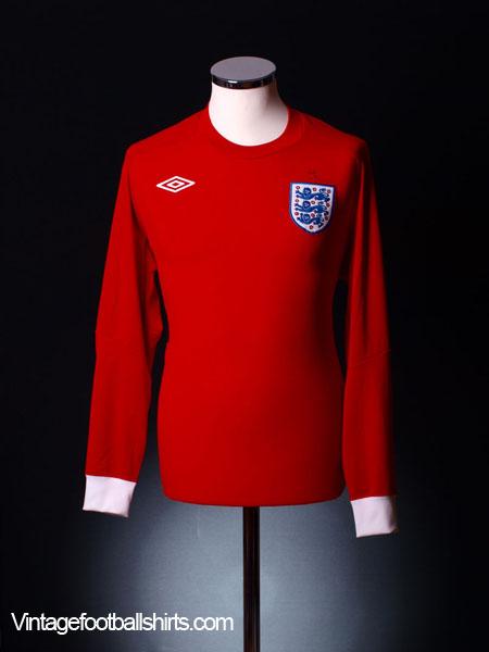 2010-11 England Away Shirt L/S S
