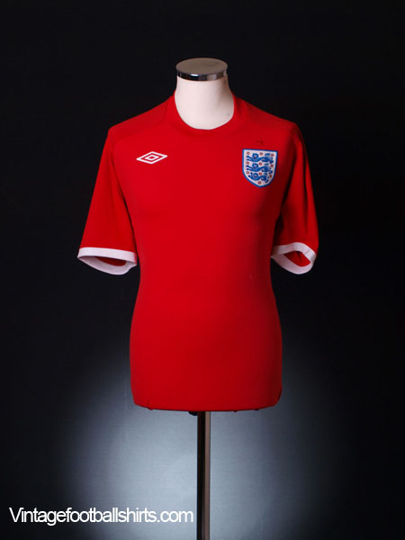 2010-11 England Away Shirt L