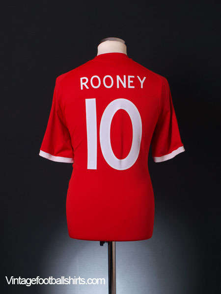 2010-11 England Away Shirt Rooney #10 L
